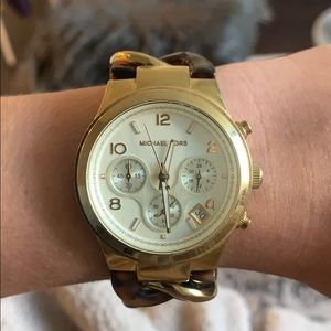 Gold/Tortoise Michael Kors watch *does not work*